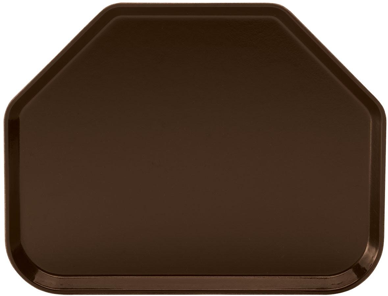 Winco FGTT-1814B Fiberglass Trapezoid Tray, Brown 18quot; x 14quot;