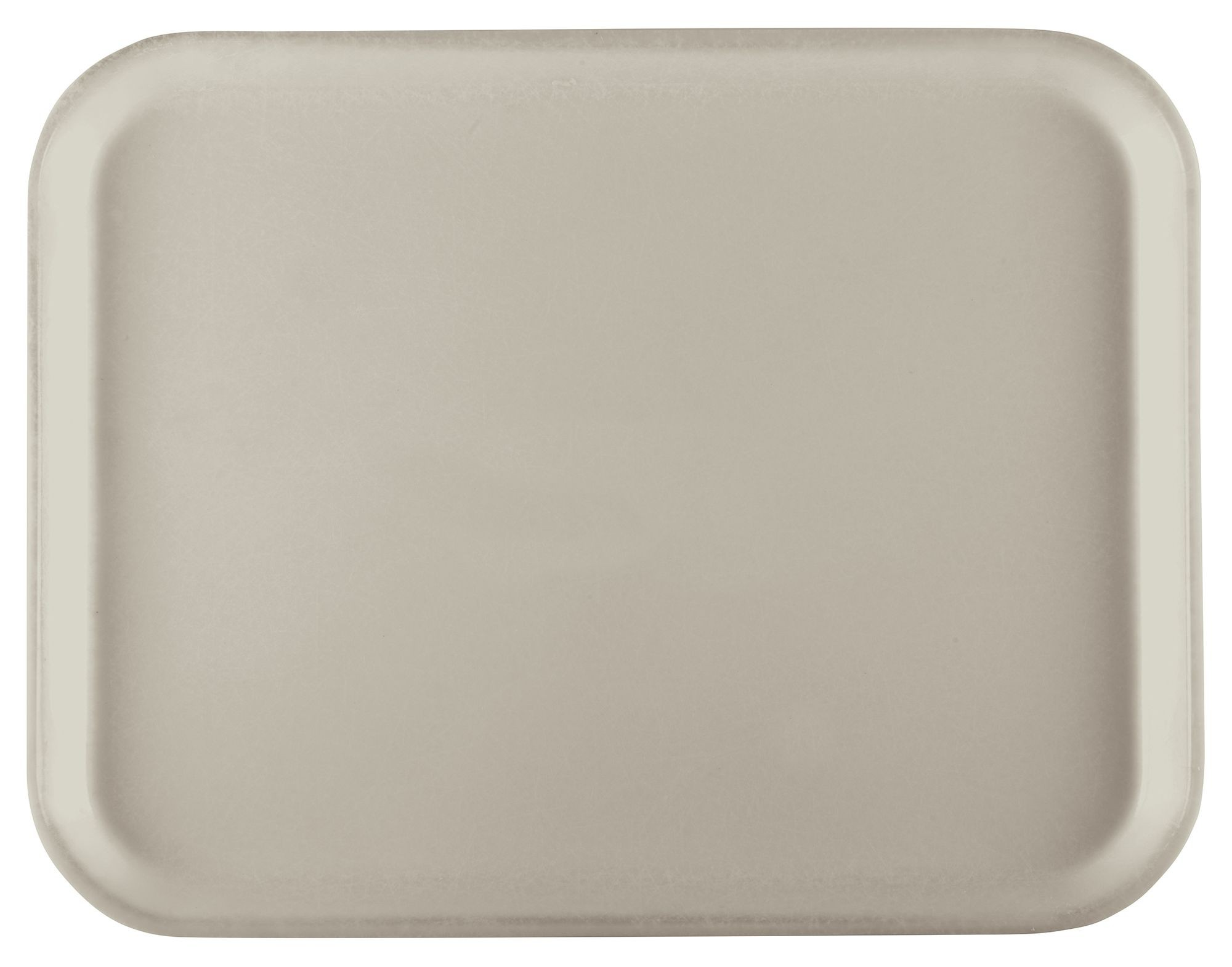 "Winco FGT-1216C Fiberglass Rectangular Tray, Cream, 12"" x 16"""