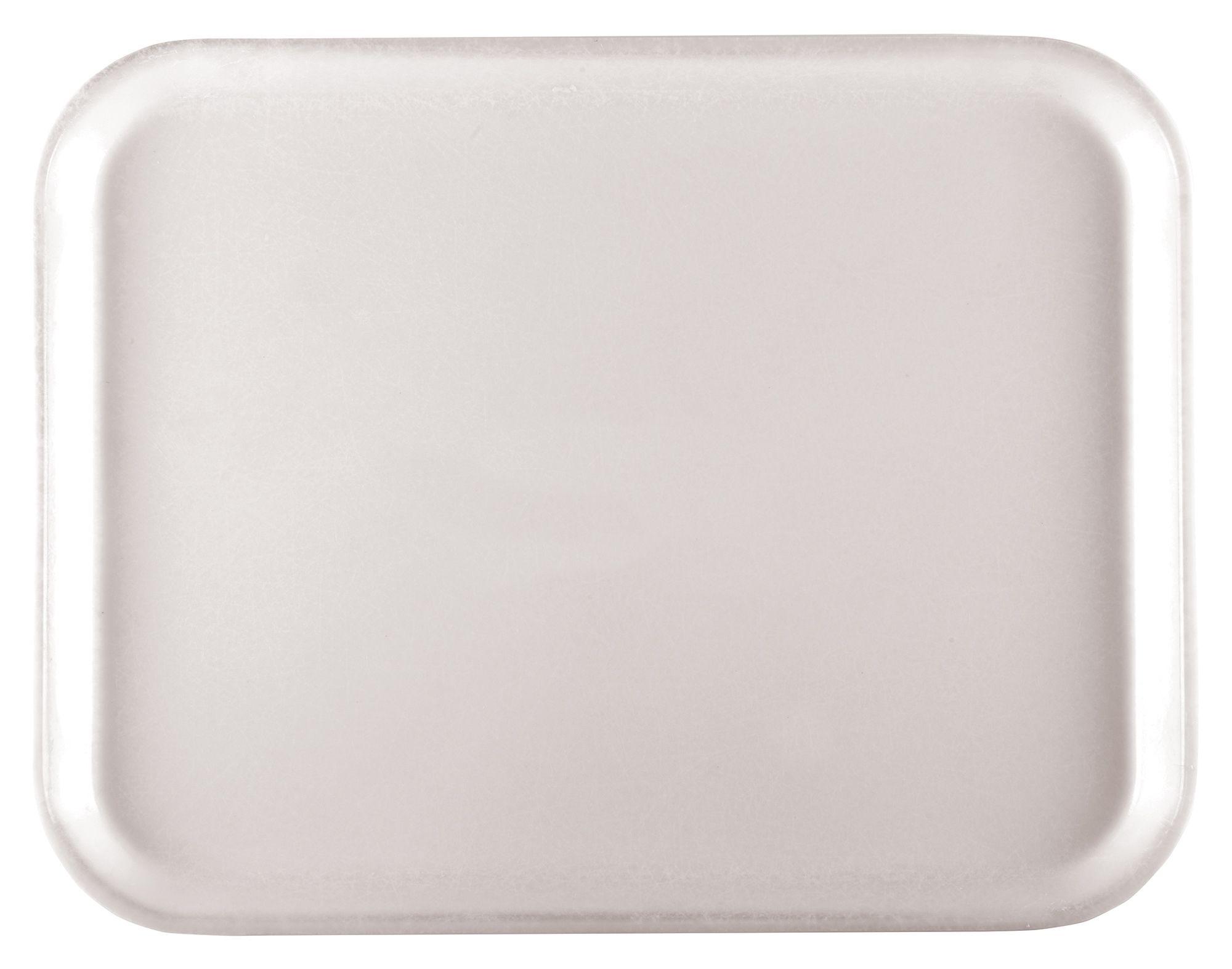 "Winco FGT-1216W Fiberglass Rectangular Tray, White, 12"" x 16"""
