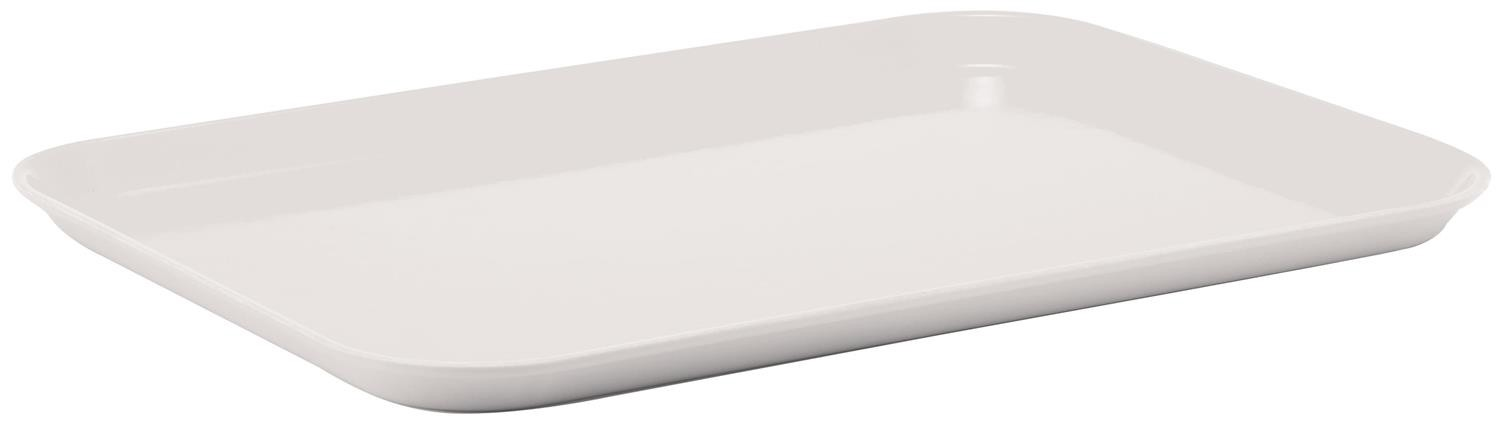 Fiberglass Tray, White, 14''x18'' Rectangular