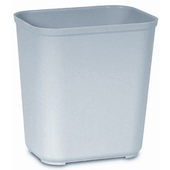 Fire-Resistant Wastebasket, 28 Quart, Gray