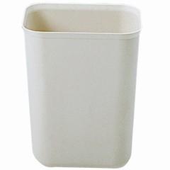 Fire-Resistant Wastebasket, 7 Quart, Fiberglass, Beige