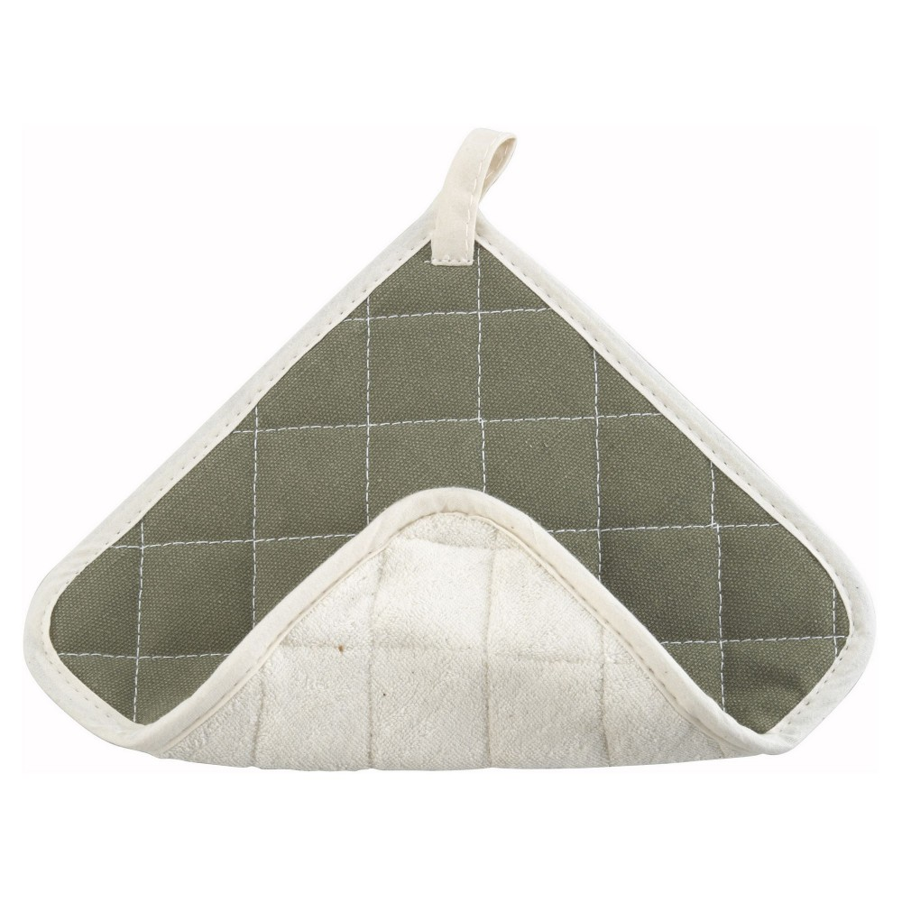 Fire Retardant/Brown Terry Cloth Combo Pot Holder - 8 X 8