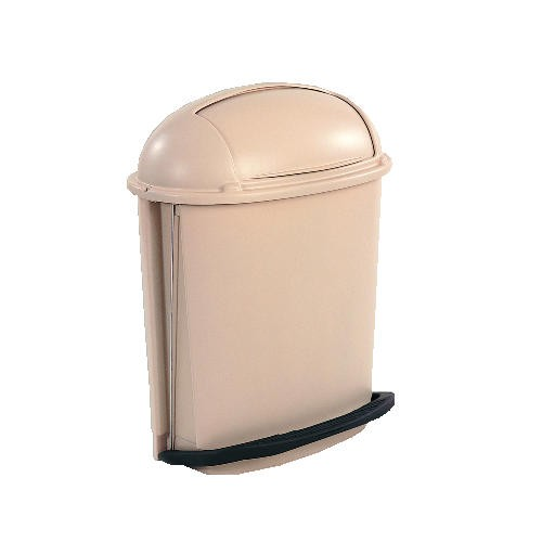 Fire-Safe Foot Pedal Rolltop Container, 14.5 Gallon, 22.25 X 14.7 X 27.2, Beige