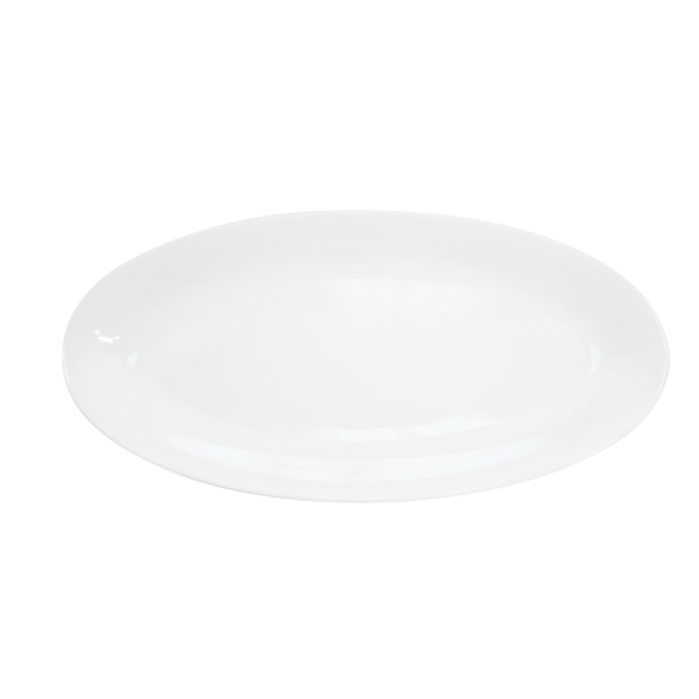 "CAC China RCN-98 Clinton Rolled Edge Fishia Platter, 18"" x 8 1/4"" x 1 1/4"""