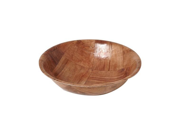 Five-Ply Woven Keyaki Wood Salad Bowl - 16
