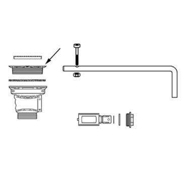 Franklin Machine Products  113-1067 Flange, Drain (Fisher Waste )