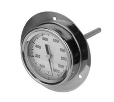 Flange-Mounted Pizza Oven Thermometer - 200F To 1000F