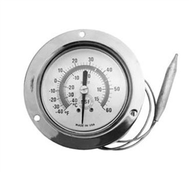 Flange Thermometer For Foster Refrigeration - -40 To 60F