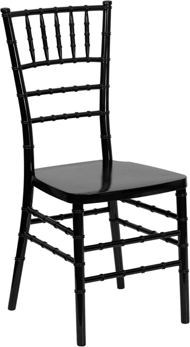 Flash Elegance Black Chiavari Resin Chair