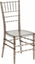 Flash Elegance Crystal Brown Stacking Chiavari Chair