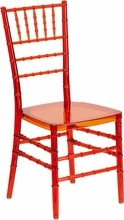 Flash Furniture BH-CRIM-CRYSTAL-GG Flash Elegance Crystal Crimson Stacking Chiavari Chair