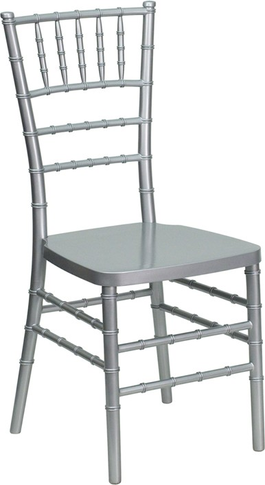 Flash Elegance Silver Chiavari Resin Chair