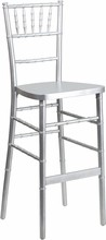 Flash Elegance Silver Wood Chiavari Bar Stool