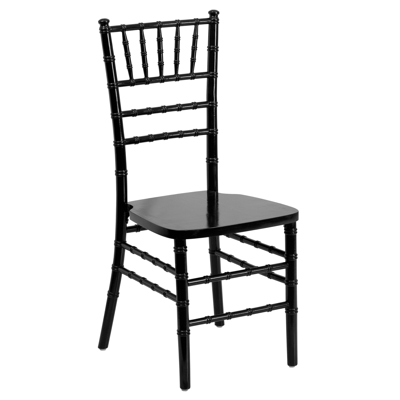 Flash Elegance Supreme Black Wood Chiavari Chair