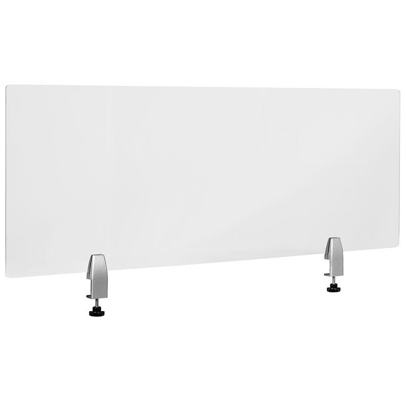 "Flash Furniture BR-DDIA-45119-GG Clear Acrylic Desk Partition 47""L x 18""H"