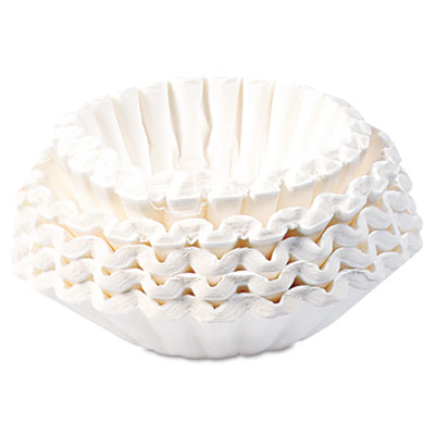 BUNN Flat Bottom Paper Coffee Filters, 12-Cup Size, 250/Pack