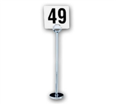 Flat Chrome Tall Number Stand - 12