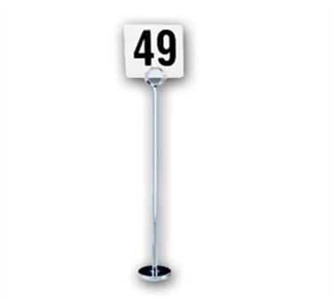 Flat Chrome Tall Number Stand - 15