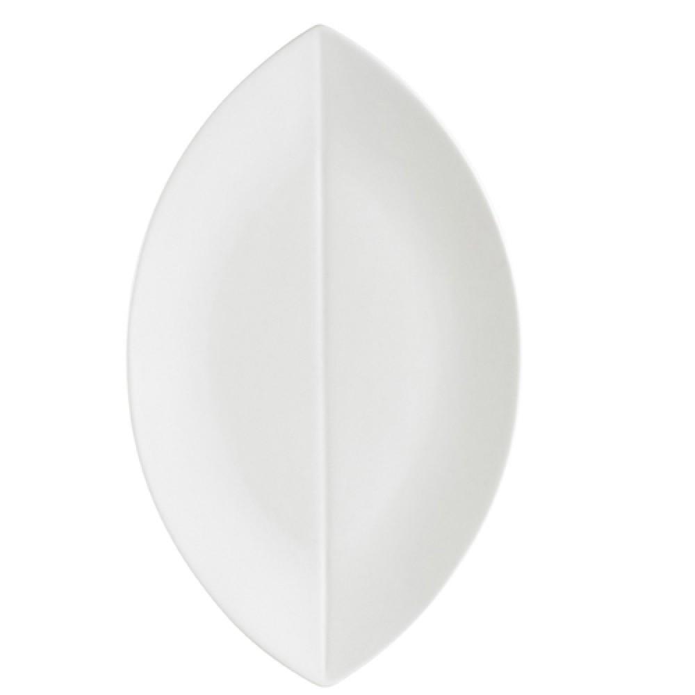 """CAC China COL-V61 Flat Leaf Platter, 16"""" x 9 1/2"""""""