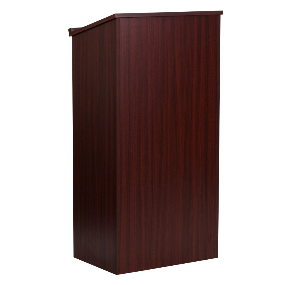 Flash Furniture MT-M8830-LECT-MAH-GG Mahogany Stand-Up Lectern