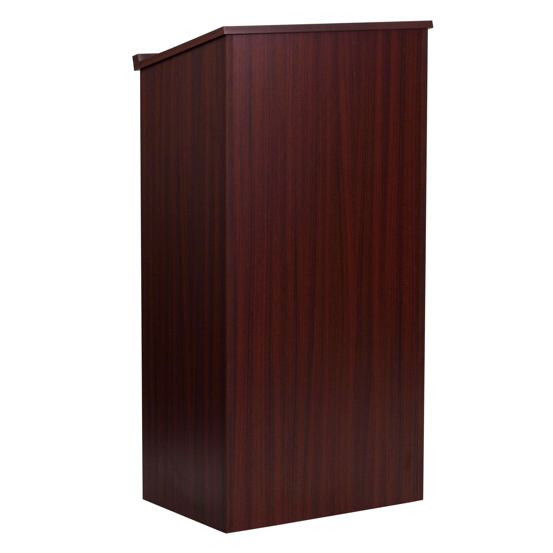 Flash Furniture MT-M8830-LECT-MAH-GG Mahogany Stand-Up Lectern