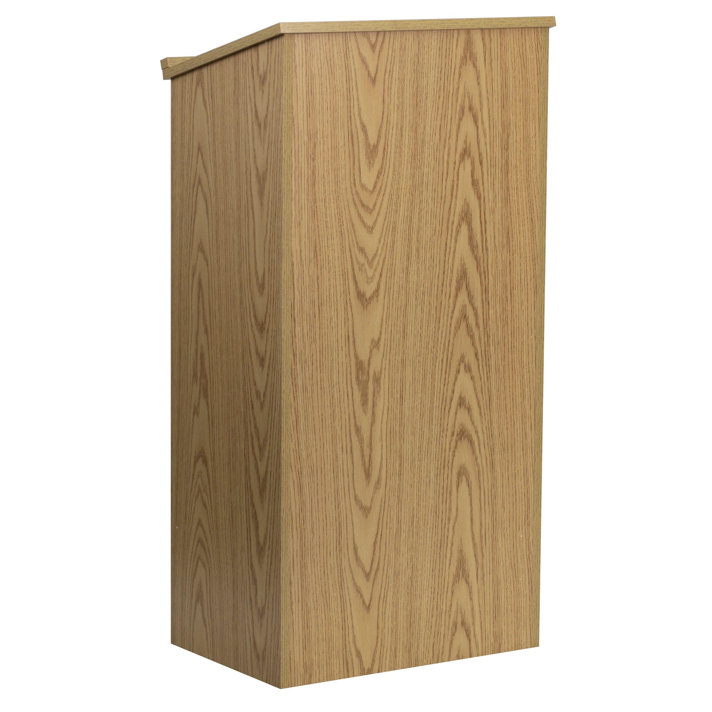 Flash Furniture MT-M8830-LECT-OAK-GG Oak Stand-Up Lectern