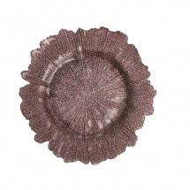 Flora Glass Charger Plates - Brown