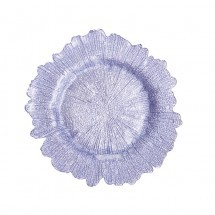Flora Glass Charger Plates - Lavender
