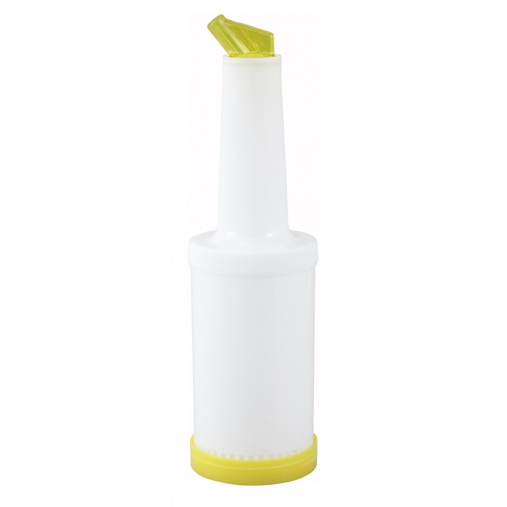 Flow & Stow 1-Quart Liquor/Juice Pour Bottle with Yellow Spout/Lid