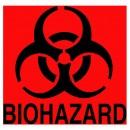 Fluorescent Orange-Red Bio Hazard Decal