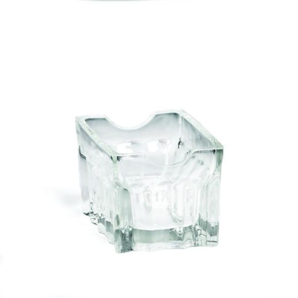 "TableCraft H121 Fluted Glass Sugar Packet Holder 3-1/4"" x 2-1/2"" x 2"""
