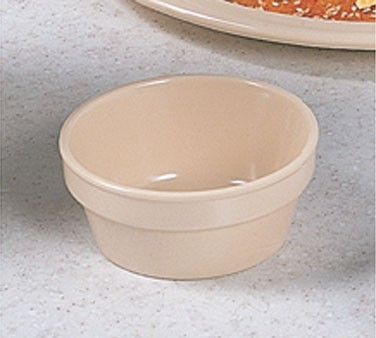 Thunder Group NS503T Nustone Tan Melamine Fluted Ramekin 4 oz., 3-1/4""