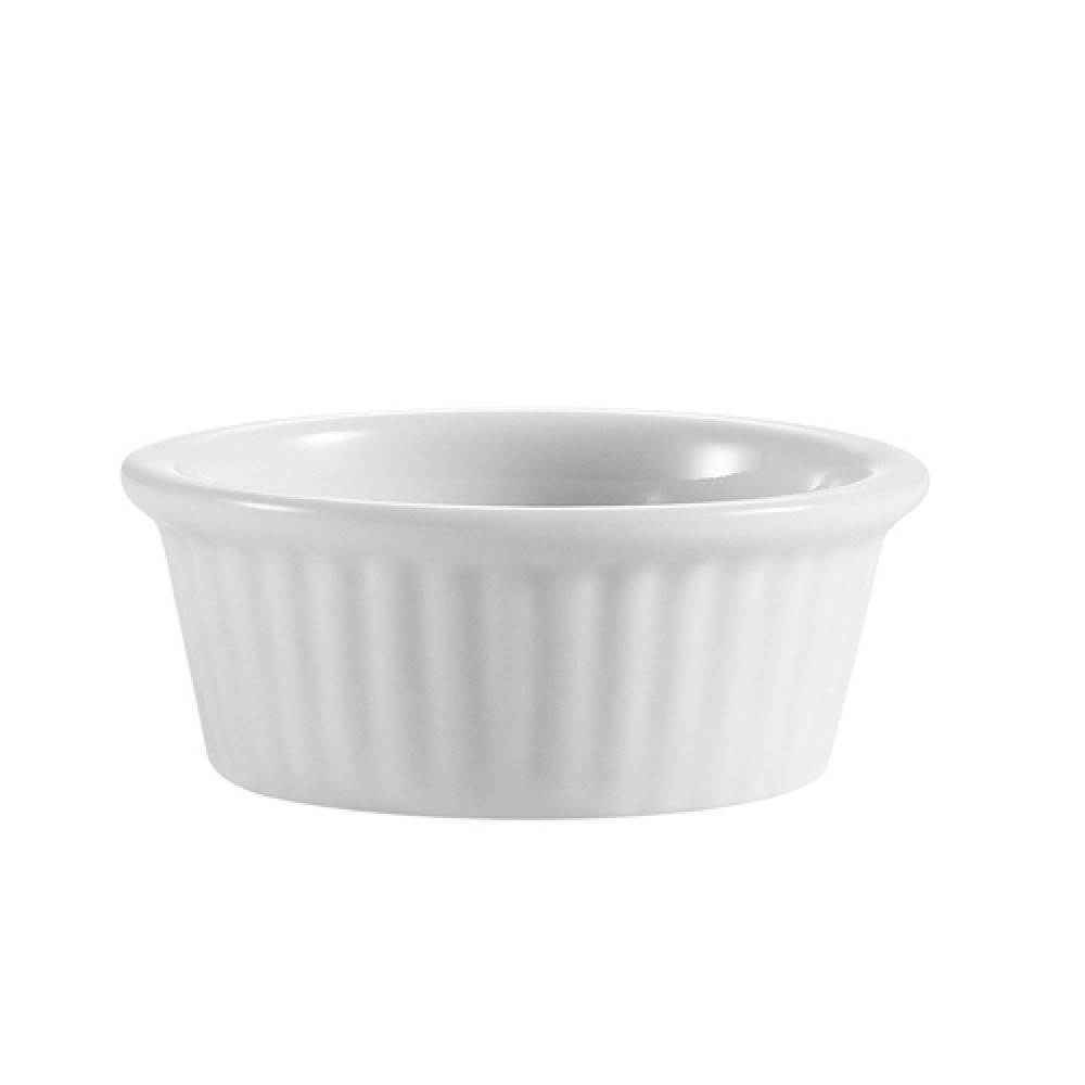 CAC China RKF-105 White Fluted Ramekin .5 oz.
