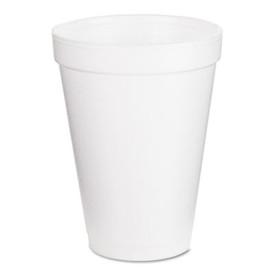 Dart Insulated Foam Drink Cups, 12 oz., White, 25/Pack