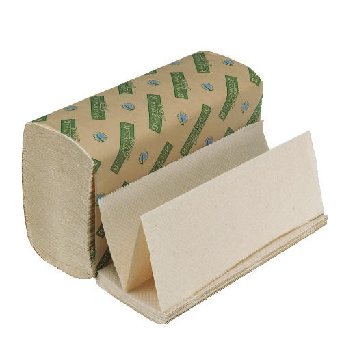 Folded Paper Towels, Multi-Fold, Natural White, 9 1/8 x 9 1/2, Green Seal