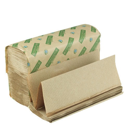 Folded Paper Towels, Multi-Fold, Natural, 9 1/8W x 9 1/2L, Green Seal