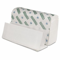 Folded Paper Towels, Multi-Fold, White, 9 1/2 x 9 1/2, Green Plus Seal