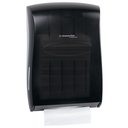 Folded Towel Dispenser, Gray Translucent, 14.188 x 19.625 x 6.250
