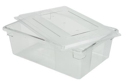 "Food & Tote Box, 12.5 Gallon, 9"" Deep, Clear"