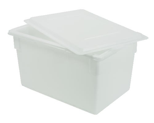 food tote box 15 deep 21 5 gallon white lionsdeal. Black Bedroom Furniture Sets. Home Design Ideas