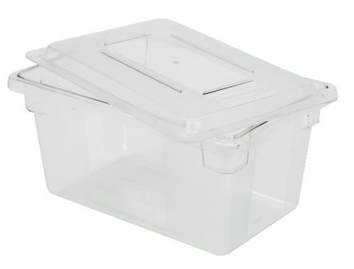 food tote box 5 gallon 9 deep clear lionsdeal. Black Bedroom Furniture Sets. Home Design Ideas