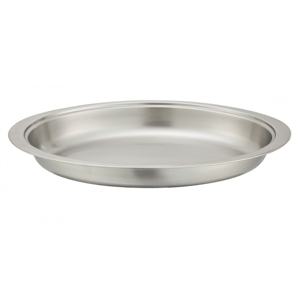 Food Pan for 6 Qt Winco Round Roll-Top Chafers 103A, 103B and 602