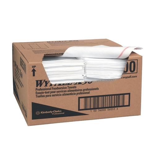 Food Service Wipes, Quarter Folded, 13.250 x 12.500 x 5.500, Wipes