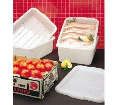 "TableCraft DBF1537 Food Storage/Freezer Drain Box with Holes 21-1/4"" x 15-3/4"" x 7"""