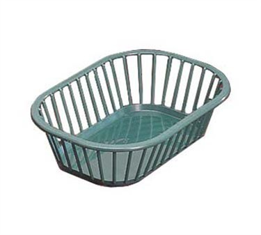 "TableCraft 1088FG Forest Green Plastic Rectangular Spoke Basket 10-1/4"" x 7-1/4"" x 2-3/4"""