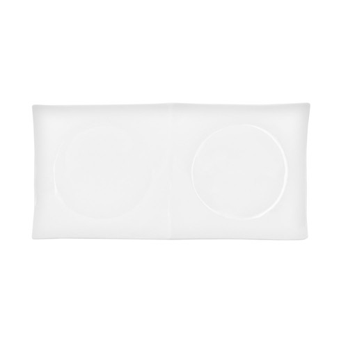 """CAC China F-P2 Fortune Divided Tasting Plate 11-1/2"""" x 5"""""""