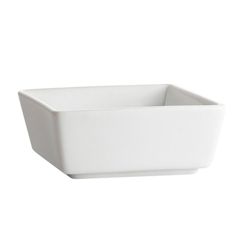CAC China F-BW3 Fortune White Square 4 oz. China Bowl