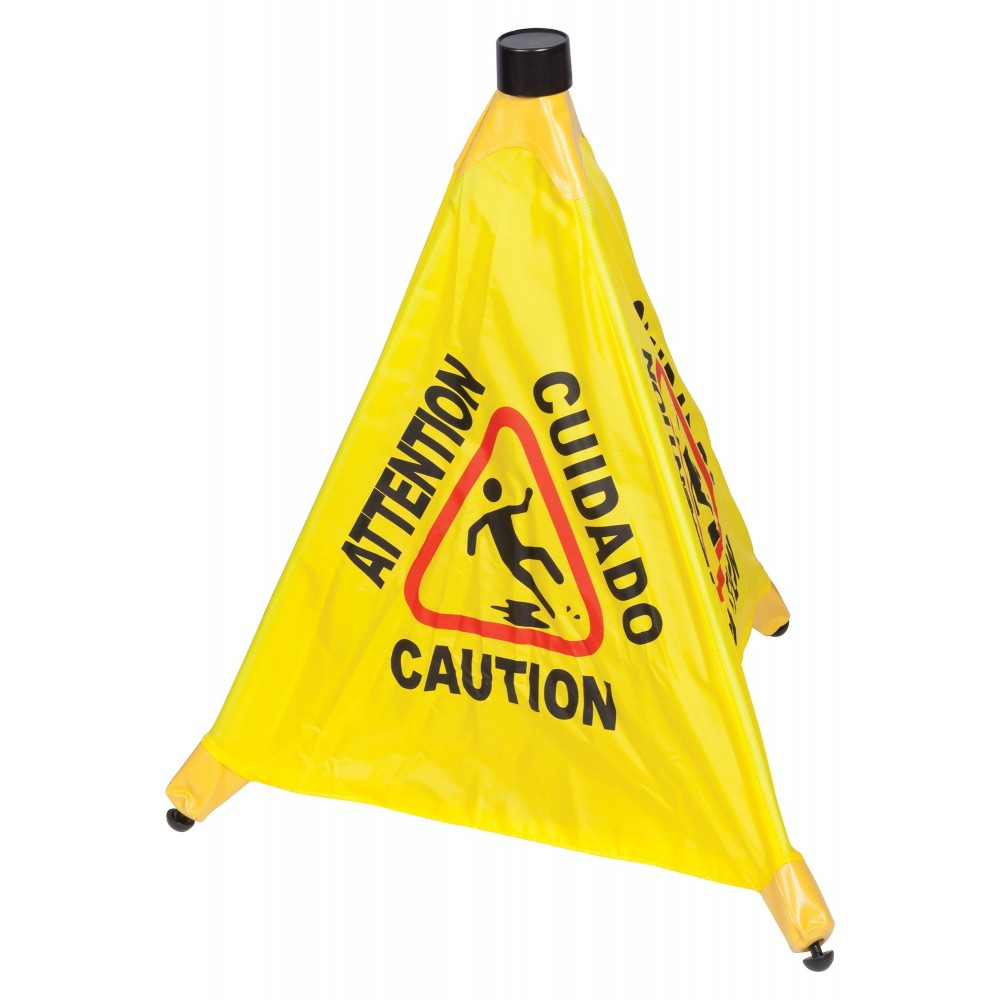Four-Facet Caution Sign