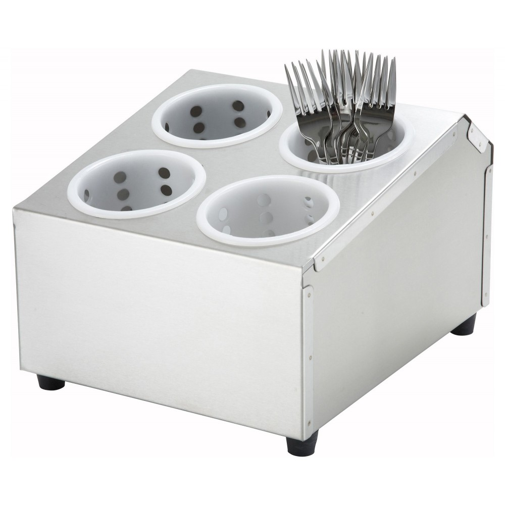 Four-Hole 2-Tier Flatware Cylinder Holder